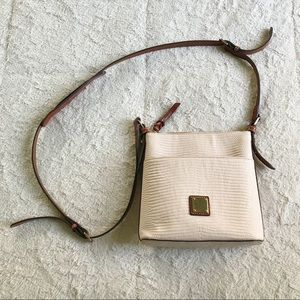 Dooney & Bourke Cream Pebbled Crossbody